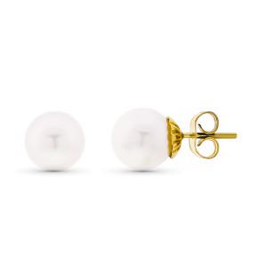 Pendientes perla cultivada 9mm.