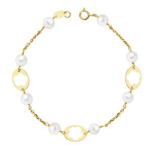 Pulsera comunión oro y perla