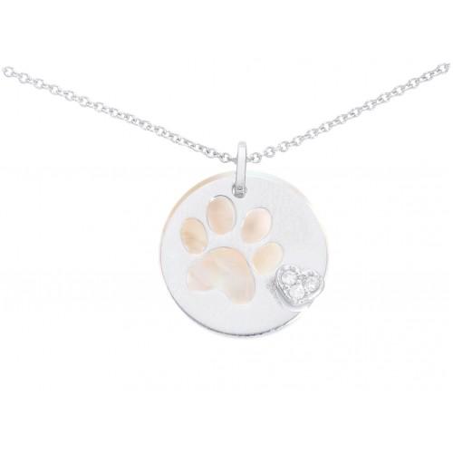 Gargantilla Love My Dog oro y diamantes.