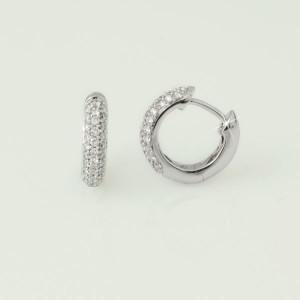 pendientes aro oro blanco y diamantes