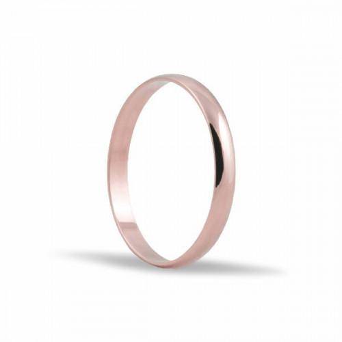 Alianza oro rosa 2,5mm.